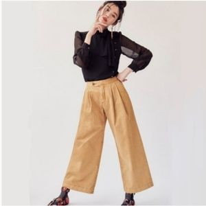 Free People Caramel Liberty Pleated Wide Leg Pants